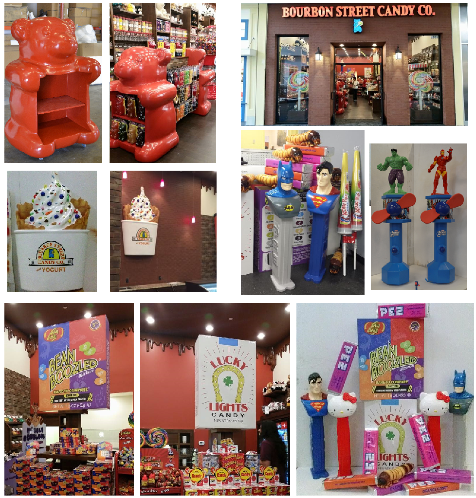 Custom Foam Sculpted Retail Displays and Decor of Candy and Ice Cream Props