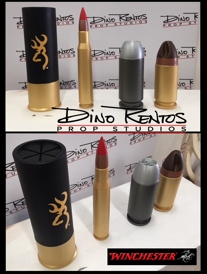 Custom Foam 3D Printed Bullets and Ammunition for tradeshow display