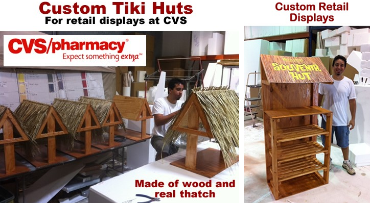 Custom Retail Point of Sale Point of Purchase Tiki Hut Display