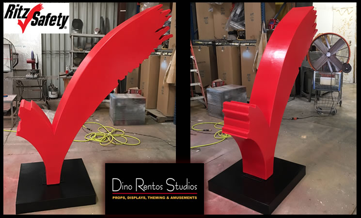 Custom Foam Check Mark Logo Sculpture Prop for tradeshows and conventions