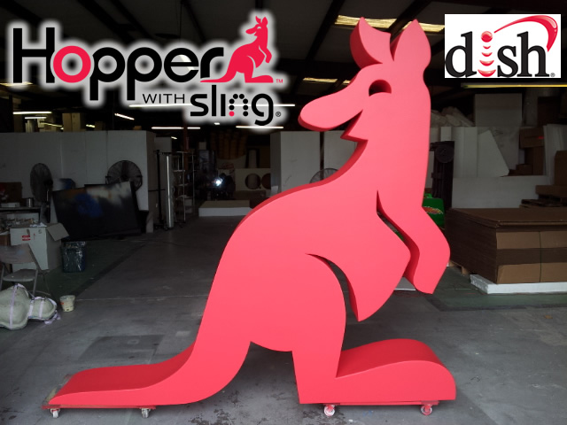 Custom 3D Foam Sculptured Hopper Decor for Retail Display and Tradeshows