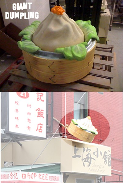Retail Custom Foam Signage for interior and exterior display Giant Dumpling