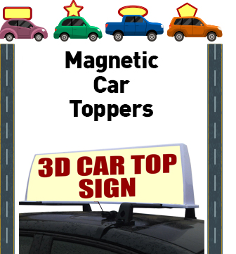 Magnetic Car Toppers Custom Graphics