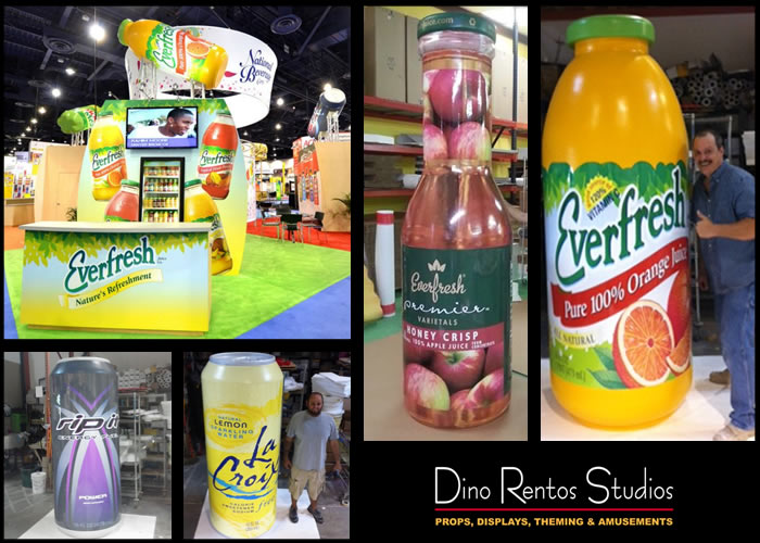 Large Custom Foam Bottle Replicas  for Custom Tradeshow Display