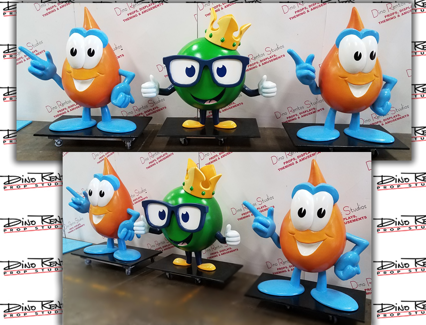 Custom Foam Oil Drip Character Mascot Props for tradeshows and looby displays