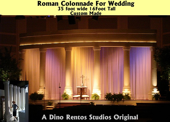 Custom Foam Props and Displays for weddings and events Colonnade