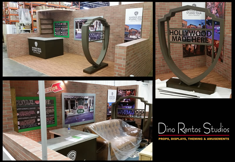 Custom Foam Warner Brothers Tradeshow Exhibition Booth for events