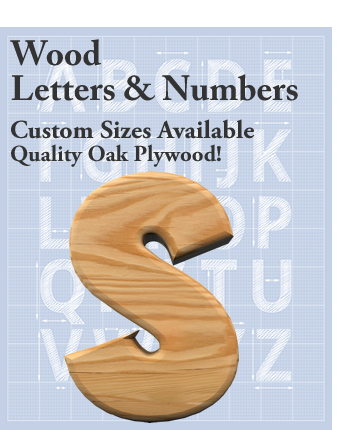 Wood Letters and Numbers