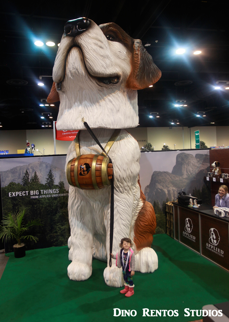 Bobble Head Dog for convention tradeshow Foam Scenic sculpture prop