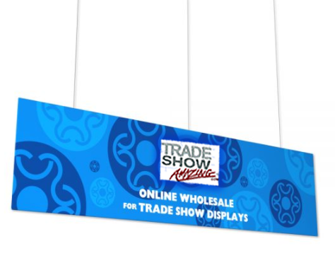 Hanging Banner Flat Rectangle Shape (Style F)